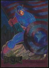 1995 Marvel Metal Blaster Trading Card #2 Captain America