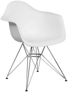 Flash Furniture Alonza Series White Plastic Chair New
