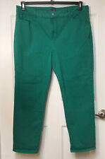 Not Your Daughter's Green Ankle Jeans Women's Size 18, 5 Pockets Preowned