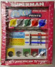 SUPERMAN SPARKLE PAINTS Complete UNUSED MIB Kenner 1966