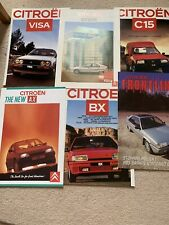 Citroën BX, C15, AX 1986 Car Brochures excellent condition