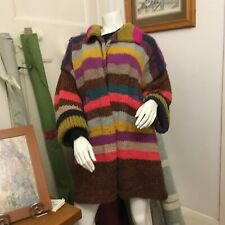 Multi coloured striped cardigan.  Hand made Made In Victoria.   Lagenlook style
