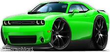 2010-16 Dodge Challenger R/T HEMI Wall Decal Game Room Graphics Garage Cling