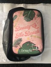 Benefit Beauty and the Beach Zip Up Makeup Travel Cosmetic Bag New