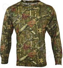 Mens Jungle Print Camouflage Army Combat  Long Sleeve T Shirt Fishing Hunt S-5XL