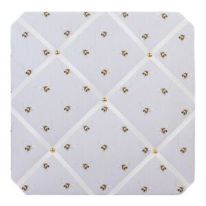 Wrendale Designs Flight of the Bumblebee Fabric Notice Board – 40cm Pin Board