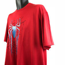 Marvel Comics Spider-Man Mens Extra Large Xl T Shirt Red Blue Spider 46/48 Web
