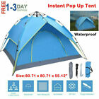 2-3 Person Automatic Pop-Up Outdoor Tent Camping Backpacking Tents Waterproof US