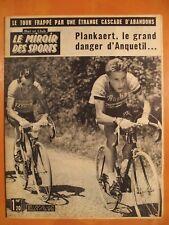 Miroir des Sports 918 du 9/7/1962-Le Tour. Plankaert, le grand danger d'Anquetil