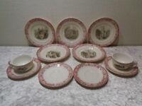 11 PC Convolute Wächtersbach Ceramics - Alpine Motifs