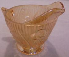 "Iris & Herringbone By Jeannette, Creamer, Iridescent 3.75"" Tall 3.5"" Top Vintage"