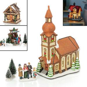 Weihnachtshaus, Weihnachtsdorf, Häuschen, Hütte - LED Deko beleuchtet mit Timer