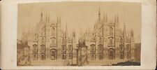 Milan Cathedral Vintage/Antique 3D Stereoview Card