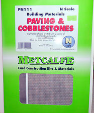 New Metcalfe Paving & Cobblestones Sheets PN111 N Gauge