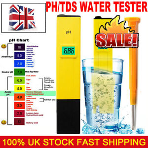 Hydroponics Water Pool Test Pen Digital Electric PH Meter Tester High Quality UK