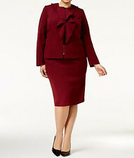 Tahari ASL New Plus Size Ruffle-Front Skirt Suit Size 18W MSRP $320 #L 625