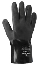 Showa Glove Black Knight Cotton Lined PVC Coated 10 inch Gloves 7710R, 12 Pair