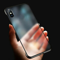 Ultra Thin Frameless Case Transparent Cover For iPhone 6S 7 8 Plus XR XS Max