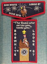 OA Lodge 87 Bob White Flap 2018 SR-5 Dixie Fellowship RED Bdr. Set