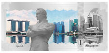 2017 Cook Islands $1 Singapore Skyline Foil Note 5 g Proof Silver SKU47891
