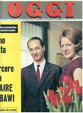 OGGI N. 8 25 FEBBRAIO 1965 SORAYA MINA SEAN CONNERY MARLON BRANDO CARLOS BORBONE
