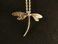 Anhänger 24 Karat Vergoldet Libelle Elegant Design Damen Halskette Geformt