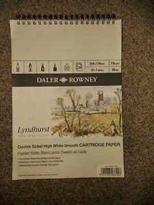 Daler Rowney Lyndhurst Cartridge Paper 10x7 25 Sheets