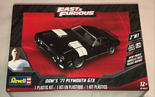 Revell Dom's 1971 Plymouth GTX 2'N1 Fast & Furious 1:24 scale model car kit 4477