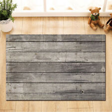 Door Mat Bathroom Rug Bedtoom Carpet Bath Mats Non-Slip Brown Gray wood flooring