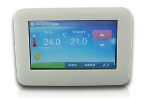 Raumthermostat Thermostat programmierbar Touchscreen großer LED Display #901