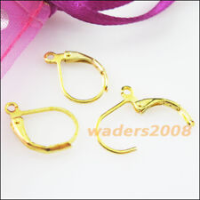 20 Gold Dull Silver Bronze Plated Semicircle Lever Back Splitring Earring Hooks