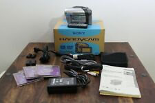 Sony Handycam DCR-DVD203 Camcorder with Cables - Remote - Manual - Bad Battery