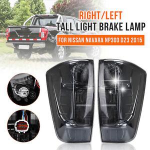 Smoked Black Pair Rear Tail Lights Lamp For Nissan Navara NP300 D23 Ute 2015-Up