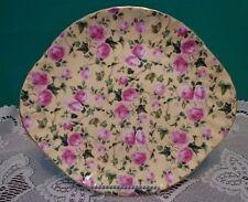 "Royale Garden Staffordshire Rose Platter Yellow Gold Trim Roses 10"" Cottage"