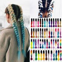 "24"" Ombre Kanekalon Dip Dye Jumbo Braid Synthetic Hair Extensions 55 Colors"