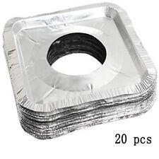 20pcs Best Stove Bib LinersDisposable Gas Burner Covers Aluminum Foil 8.5