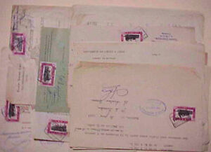 BELGIUM  28 DOCUMENTS WITH RAILROAD TRAIN STAMPS 1950's