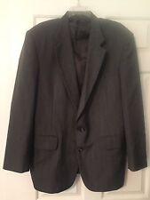 Town Craft Men's Size 40R Suit Coat / Blazer Gray With Penn Stripes