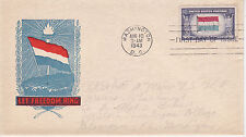 POSTAL HISTORY-1943 WORLD WAR II WWII OVERRUN COUTRY NETHERLANDS LET FREEDOM FDC