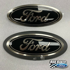18 thru 21 Ford F-150 Smoke / Chrome Oval Grille & Tailgate Badges w/ Front Cam