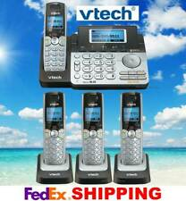 VTECH DS6151 DECT 6.0 2-LINE CORDLESS PHONE + 3 CORDLESS HANDSETS - NEW