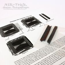 Hasselblad A12 and C12  back ~ Replacement Light Seal Kit ~ Precision Laser Cut