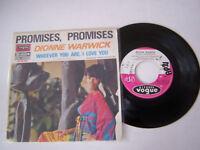 SP 2 TITRES VINYLE 45 T , DIONNE WARWICK , PROMISES , PROMISES . VG  / VG +