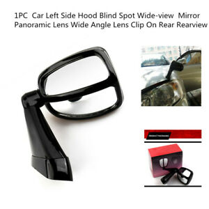 Car Offroad Left Side Hood Blind Spot Wide-view Mirror Panoramic Lens Wide Angle