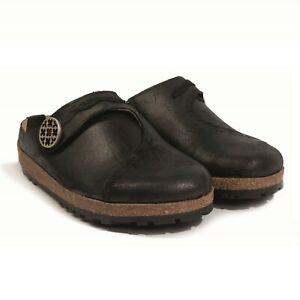 Haflinger 815730 Adventure Women's Clog Slippers Black Size 40 EU / 9 US