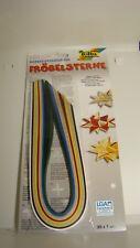 Papierstreifen für Fröbelsterne 130 g/m²,100 Streifen Farbig sortiert 35cm x 1cm