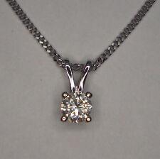 1/10CT GENUINE DIAMOND PENDANT WHITE GOLD + CHAIN
