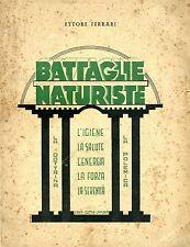 Ettore Ferrari BATTAGLIE NATURISTE