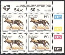SUD AFRICA (RSA) 1993 Cape CACCIA CANE/Animali/NATURA/animali selvatici C/B (za10090)