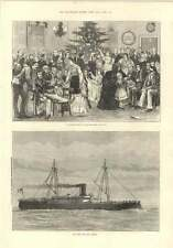 1874 Ironclad Ram Rupert Christmas Tree At The Middlesex Hospital